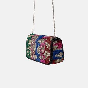NWT Zara Crossbody Shoulder Beaded Bag